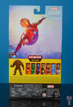 marvel legends ironheart review - package rear