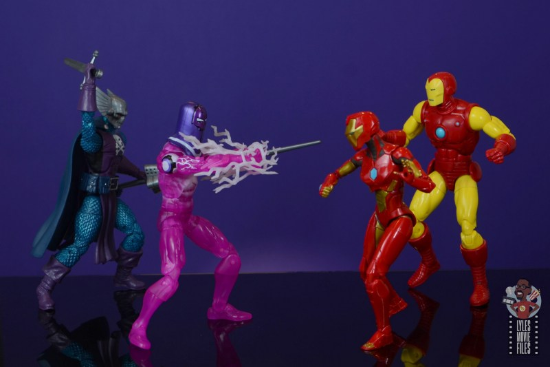 marvel legends ironheart review - vs dreadknight and living laser with tony stark a.i.