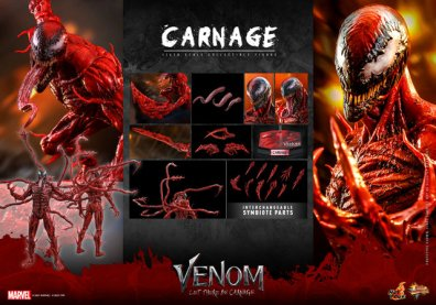 hot toys venom let there be carnage figure - carnage collage