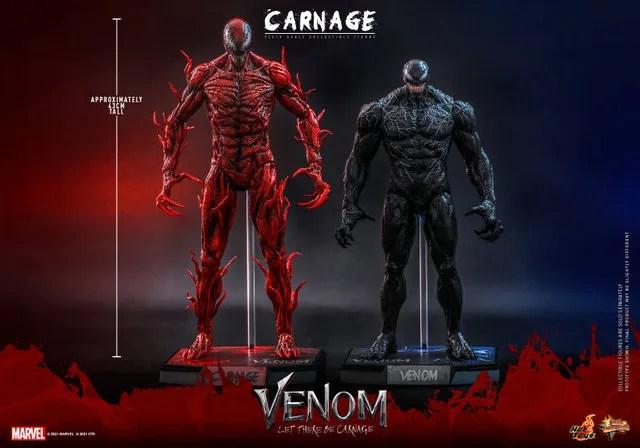 hot toys venom let there be carnage figure - scale vs venom