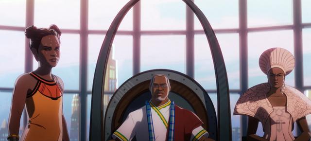 what if killmonger rescued tony stark review - shuri, t'chaka and ramonda