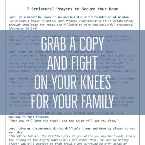 7 Powerful Prayers to Secure Your Home from Harm Freebie | lylidunbar.com