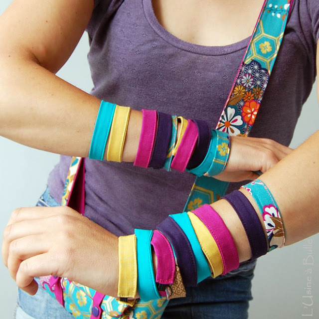 tuto bracelet en tissu l'usine à bulle
