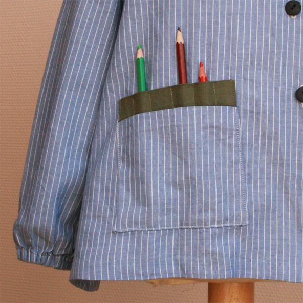 patron gratuite blouse peinture Gasparine