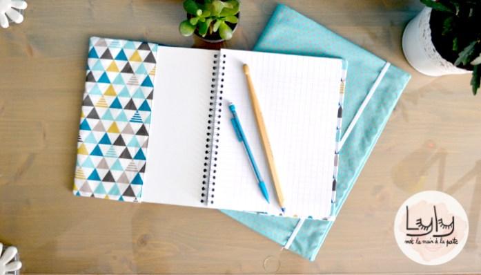 diy tutoriel comment coudre un joli protège-cahier en tissu