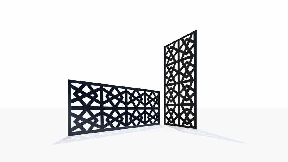 Claustra design motif géométrique nœud