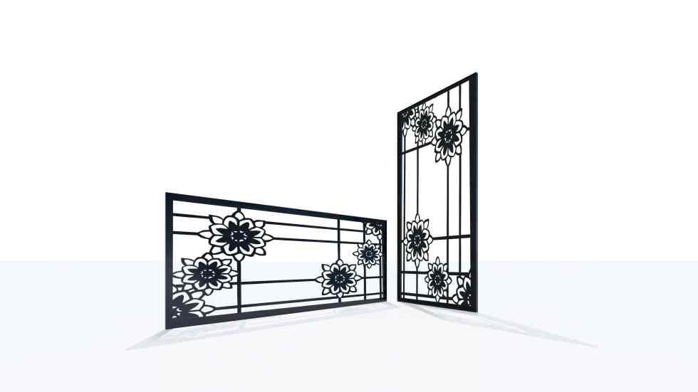 Claustra design motif fleur 76