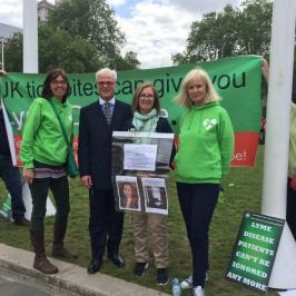 Desmond Swayne, MP for the New Forest with Sarah Warren, Katherine Brookhouse and Angie Howard