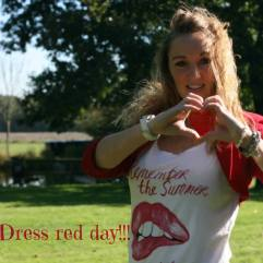 dress red day monica