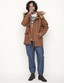 N-3Bジャケット×ニットセーター×スウェットパンツ×革靴