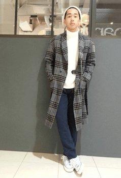 ガウンコートのメンズの着こなし方⑦:ゆったり感を意識する