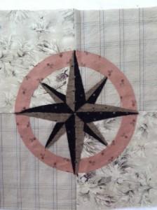 Nautical Tumble Block 13 Compass Rose Lyn Brown S