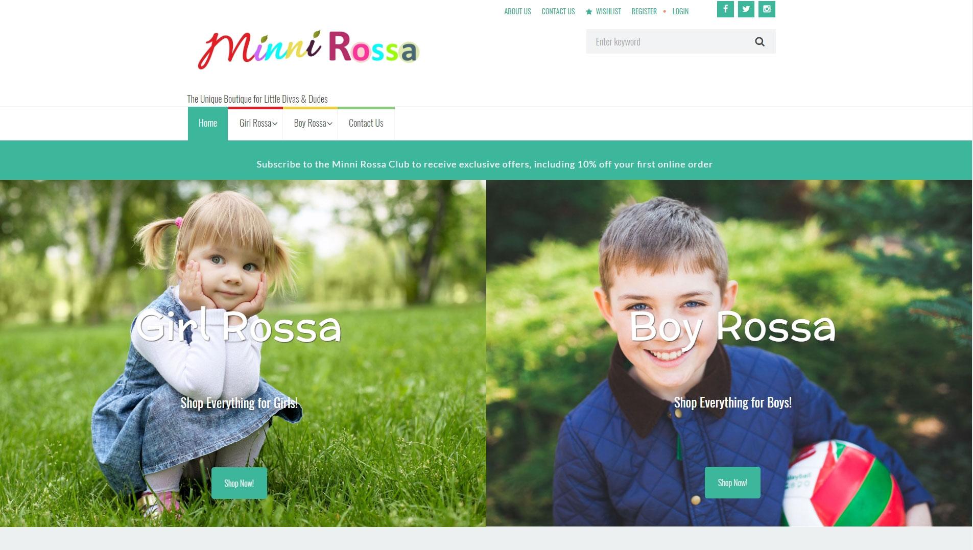 MinniRossa.com Website Image