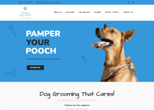 Pamper-your-pooch.co.uk main page image