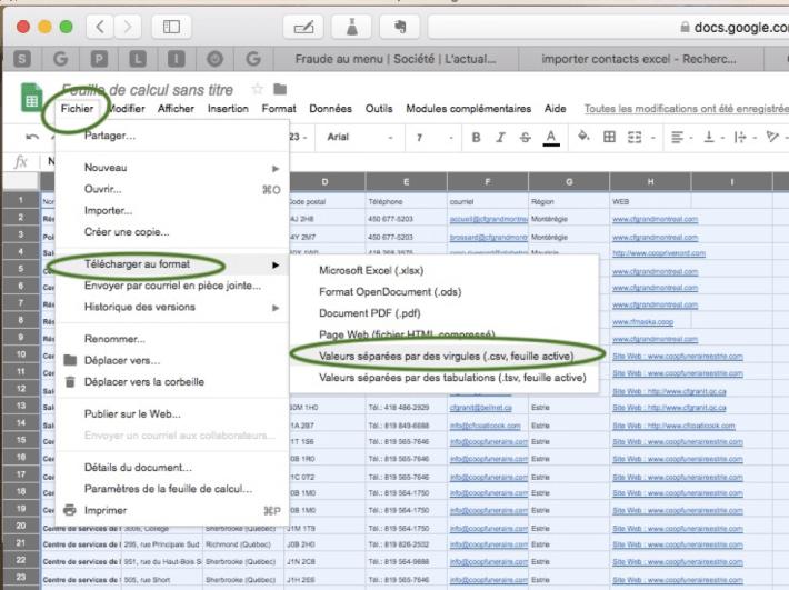Comment sauvegarder un tableau Excel en CSV dans Google Drive