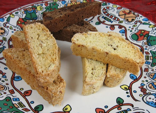 Chocolate Chocolate Chip and Almond Biscotti