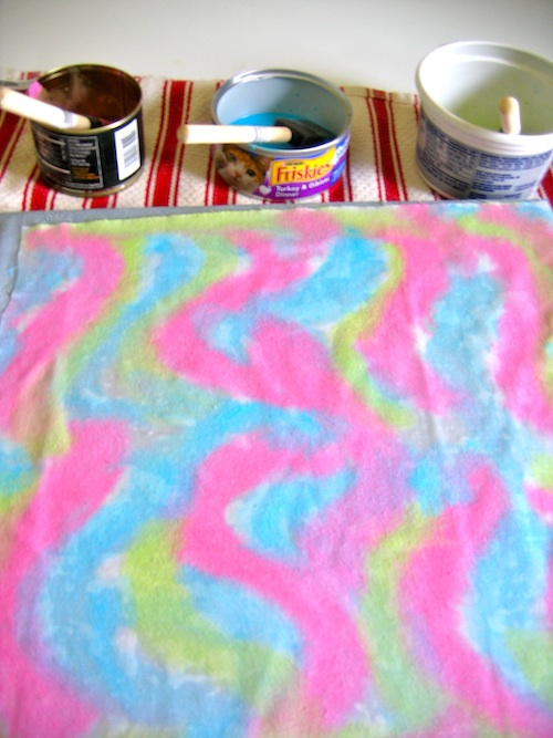 Painting the fabric