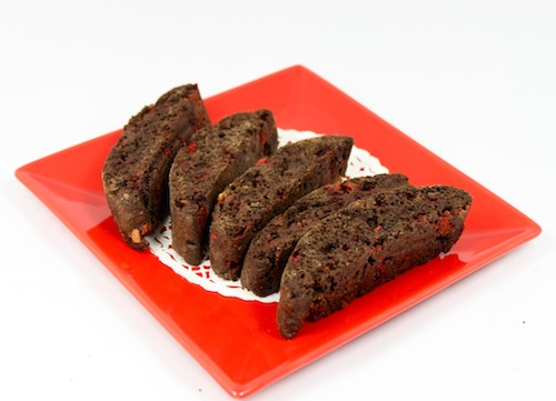 Dark Chocolate Peppermint Biscotti
