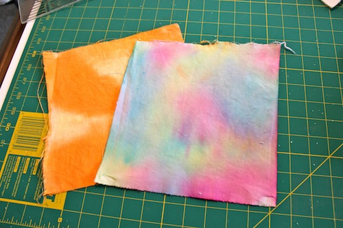 Finished fabric pieces
