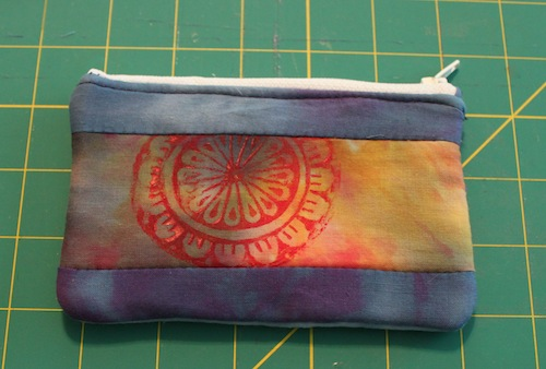 Dyed fabric bag