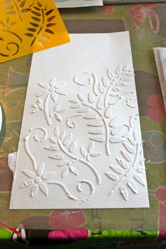 gesso on page