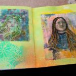 Paint cloth transfers in my journal