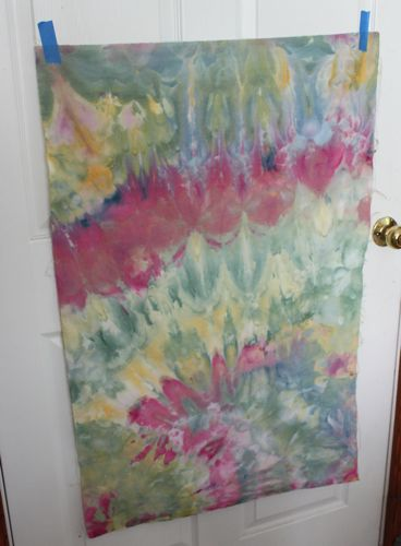 Layer 1 of ice dyed fabric