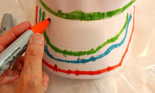 Paint visor with Sharpies
