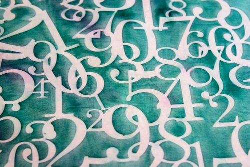 Crafters Workshop Numbers Collage Sun Print
