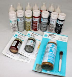 Martha Stewart glass and glitter glass paint and more