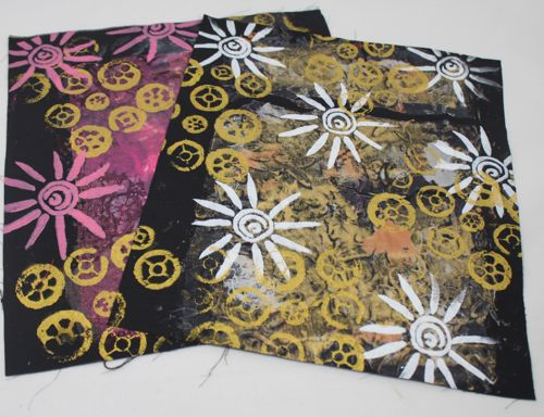 Two of my screen printed fabrics