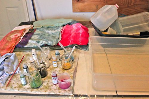 Worktable ready to marble