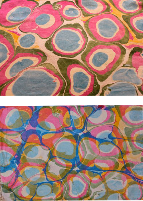 Overmarbled fabric