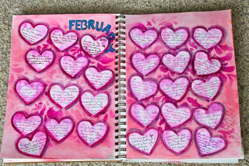 February 2013 Monthly Journal Spread