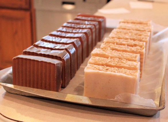 Chocolate Almond and Peppermint Eucalyptus soaps