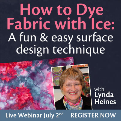 How to dye fabric with ice