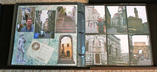 italy scrapbook page 2