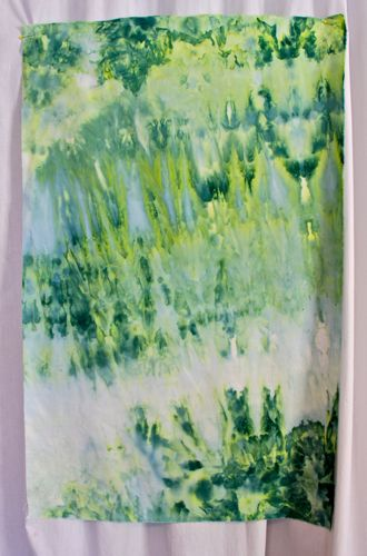 Forest Green snow dyed piece