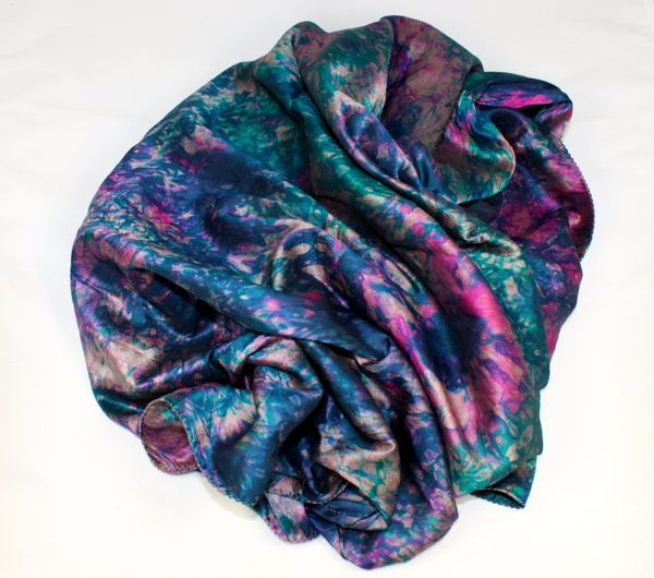 silk dyed piece