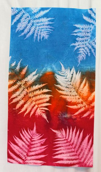 sun printed fabric using setacolors