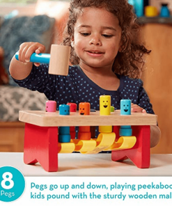 Deluxe Pounding Bench Wooden Toy with Mallet - lyndaskitchen
