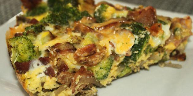 Bacon and Broccoli Frittata