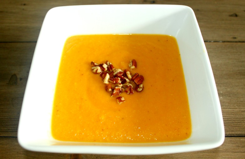 Roasted Sweet Potato Cauliflower Soup