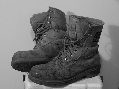 creative commons image of workboots by David Vincent Johnson from flickr