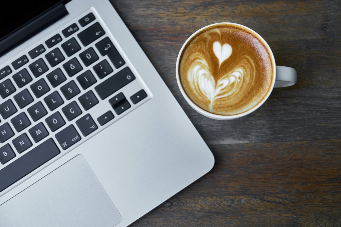 laptop computer and coffee, writing resources, lynettemburrows.com