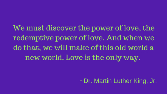 Lynette M Burrows discusses the Martin Luther King quote about the power of love. The quote was used by Rev Curry during Prince Harry & Megan's wedding. Read more.