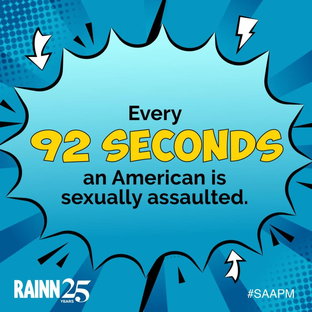 Graphic states Every 92 Seconds an American is sexually assaulted. Speak Out so other know there's a safe resource.