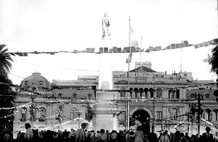 1982 Image of the Plaza de May in Buenos Aires filled with women, the Mad Women Who Refuse to be silent.