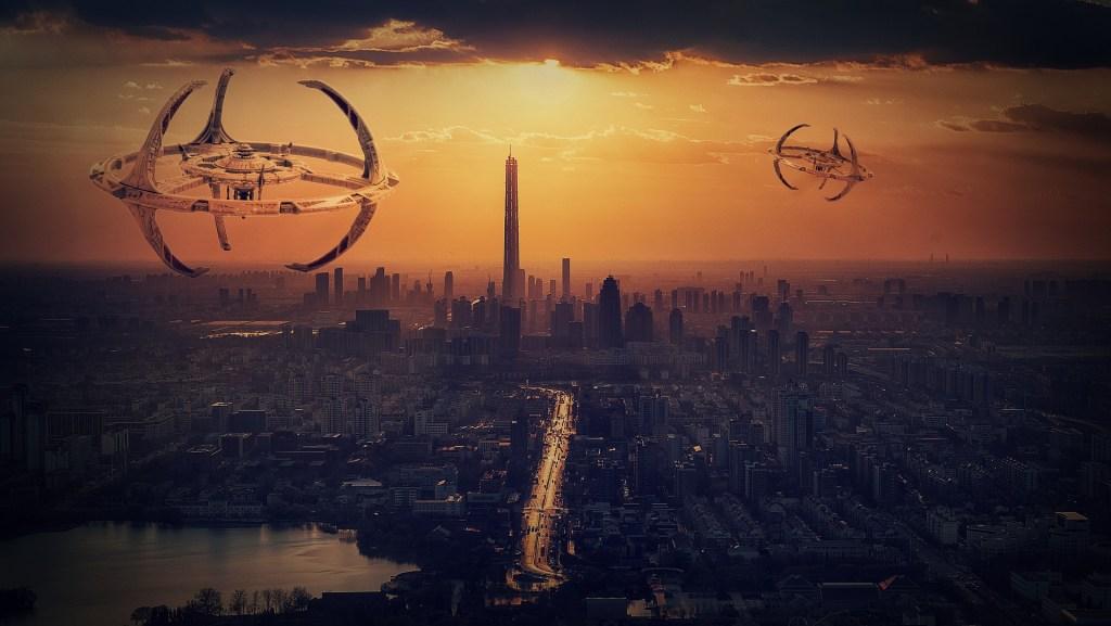 Image of an Alien city scape