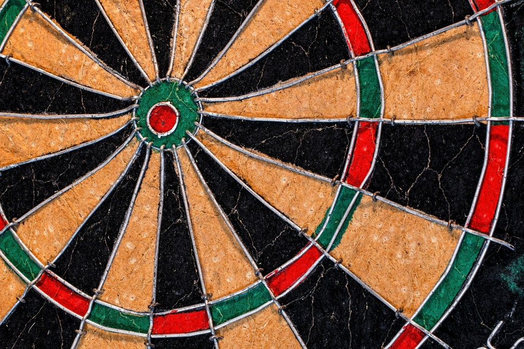 close up of dart board, Keep your eye on the target with new intentions